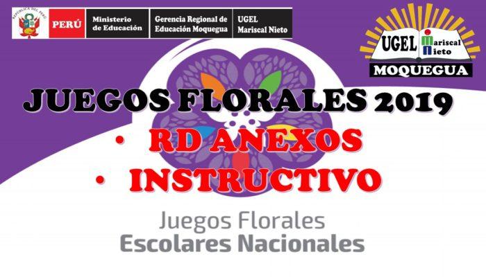 BASES-INSTRUCTIVO PARA LOS JUEGOS FLORALES ESCOLARES